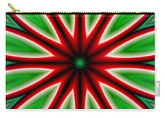 Crazy Christmas Flower Carry-all Pouch
