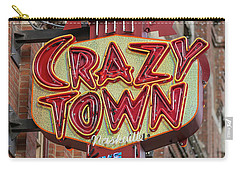 Carry-all Pouch featuring the photograph Crazy Town by Stephen Stookey
