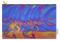 Carry-all Pouch featuring the digital art Creative Motion by Linda Sannuti