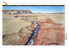 creek at  Colorado foothills - aerial view Carry-all Pouch