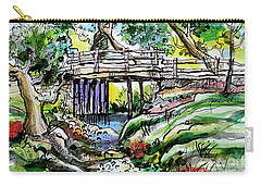 Creek Bed And Bridge Carry-all Pouch by Terry Banderas