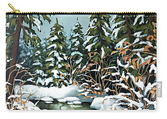 Creek, Winter, Snow Carry-all Pouch
