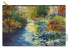 Carry-all Pouch featuring the painting Creekside Tranquility by Hailey E Herrera