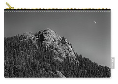 Carry-all Pouch featuring the photograph Crescent Moon And Buffalo Rock by James BO Insogna