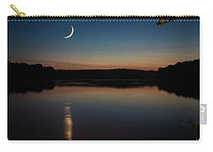 Crescent Moon Set At Lake Chesdin Carry-all Pouch
