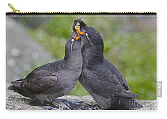 Crested Auklet Pair Carry-all Pouch