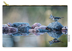 Crested Tit's Reflection Carry-all Pouch