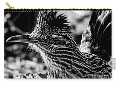 Cresting Roadrunner, Black And White Carry-all Pouch