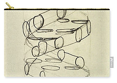 Cricks Original Dna Sketch Carry-all Pouch by Science Source