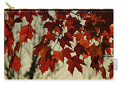 Carry-all Pouch featuring the photograph Crimson Red Autumn Leaves by Chris Berry