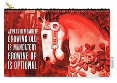 Crimson Carousel Quote Carry-all Pouch