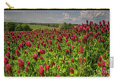 Crimson Clover Patch Carry-all Pouch by Barbara Bowen