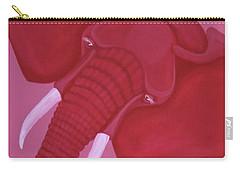 Crimson Elephant Carry-all Pouch