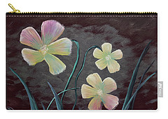 Crimson Flower Carry-all Pouch