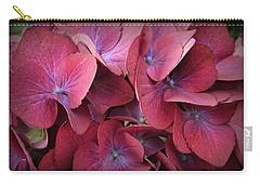 Crimson Hydrangeas Carry-all Pouch by Dora Sofia Caputo Photographic Art and Design