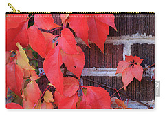 Carry-all Pouch featuring the photograph Crimson Leaves by David Chandler