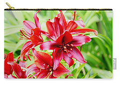 Crimson Lilies Carry-all Pouch
