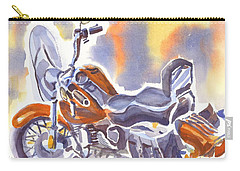 Crimson Motorcycle In Watercolor Carry-all Pouch