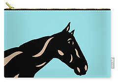 Crimson - Pop Art Horse - Black, Hazelnut, Island Paradise Blue Carry-all Pouch