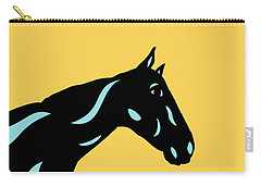 Crimson - Pop Art Horse - Black, Island Paradise Blue, Primrose Yellow Carry-all Pouch