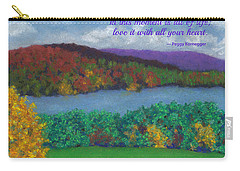 Crisp Kripalu Morning - With Quote Carry-all Pouch