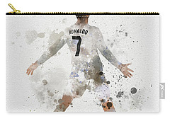 Cristiano Ronaldo Carry-all Pouch by Rebecca Jenkins