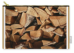 Carry-all Pouch featuring the photograph Cutie Critter In The Wood Pile by Jack Pumphrey