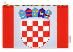 Carry-all Pouch featuring the drawing Croatia Coat Of Arms by Movie Poster Prints
