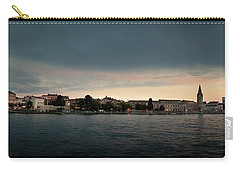 Croatian Town Of Porec At Dusk Carry-all Pouch