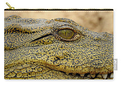 Carry-all Pouch featuring the photograph Croc by Betty-Anne McDonald