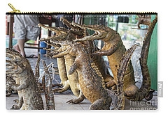 Crocodiles Rock  Carry-all Pouch by Chuck Kuhn