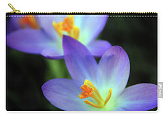 Carry-all Pouch featuring the photograph Crocus In Bloom by Jessica Jenney