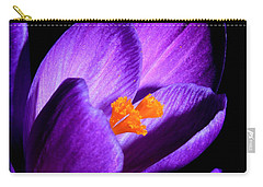 Carry-all Pouch featuring the photograph Crocus by Tammy Schneider