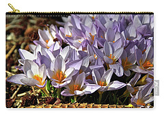 Crocuses Serenade Carry-all Pouch by Ed  Riche