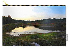 Carry-all Pouch featuring the photograph Crooked Lake Road by Jason Lees