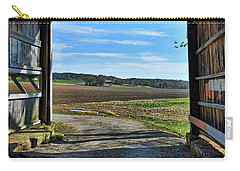 Crooks Covered Bridge 2 Carry-all Pouch by Joanne Coyle