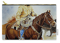 Cropped Ranch Rider Carry-all Pouch by Jimmy Smith