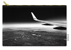 Carry-all Pouch featuring the photograph Cross Country Via Outer Space by T Brian Jones
