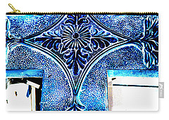 Cross In Blue Carry-all Pouch