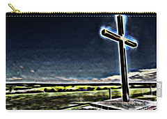 Cross On The Hill Carry-all Pouch by Douglas Barnard
