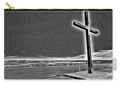 Carry-all Pouch featuring the photograph Cross On The Hill V2 by Douglas Barnard