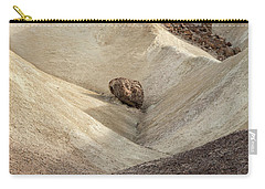 Carry-all Pouch featuring the photograph Crossing Paths - Death Valley by Sandra Bronstein
