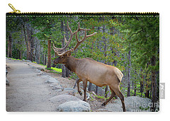 Crossing Paths With An Elk Carry-all Pouch
