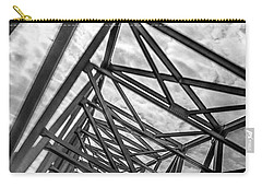 Carry-all Pouch featuring the photograph Crossing Through The Chesapeake Bay Bridge by T Brian Jones