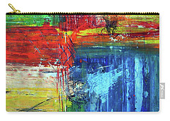 Carry-all Pouch featuring the painting Crossroads by Everette McMahan jr