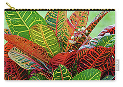 Colorful Croton Bloom Carry-all Pouch