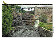 Carry-all Pouch featuring the photograph Croton Dam In Summer by Kristia Adams