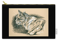 Crouching Tabby Carry-all Pouch