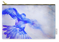 Crow In Flight Carry-all Pouch by Theresa Tahara