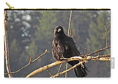 Carry-all Pouch featuring the digital art Crow Morning  by I'ina Van Lawick